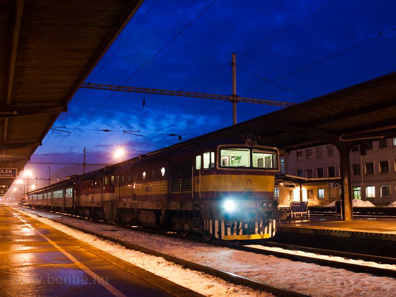 A ŽSSK 754 036-2 Zólyom személypályaudvaron fotó