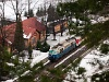 The ŽSSK 350 004-8 <q>Hugo</q> at Sztrecsény stop