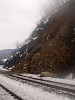 One of the cuttings had a small landslide on line 160 at Fűrész stop (Píla, Slovakia)