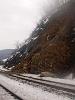 Némi kőomlás a 160-as vonalon Fűrész közelében