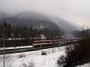 Remot-Búvár vontatta gyorsvonat halad Ruttka és Sztrecsény között - a vonat Zólyomból érkezett