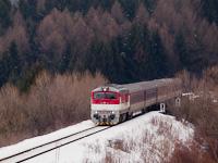 A ŽSSK 757 007-0 pályaszámú Remot-Búvár Čremošné (Turócmeggyes) és Horná Stubna obec (Felsőstubnya község) között