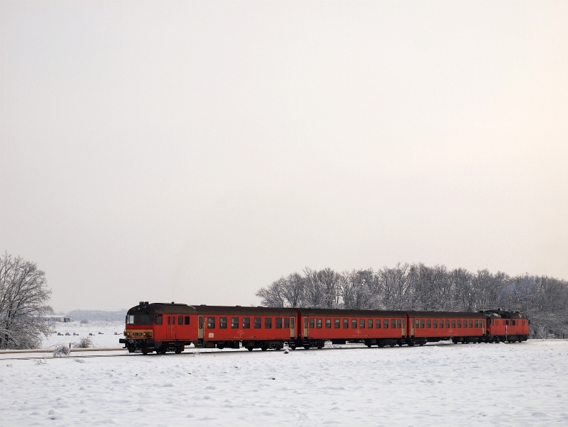 Az MDmot 3003-Btx 016 motorvonat Berekfürdő és Kunmadaras között fotó