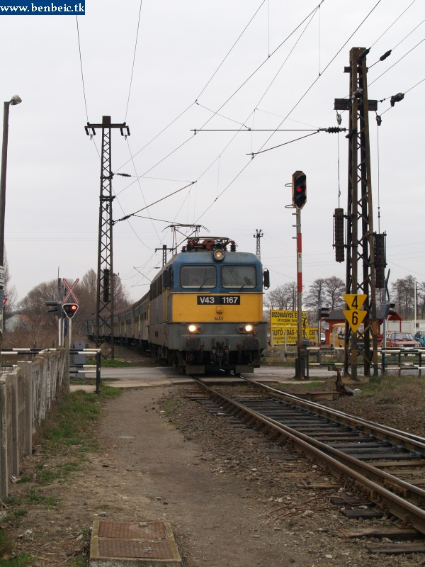 V43 1167 érkezik Környére fotó