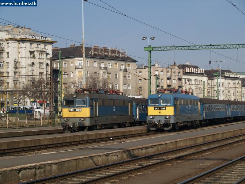 V43 1149 és 1198 a Déli pályaudvaron fotó