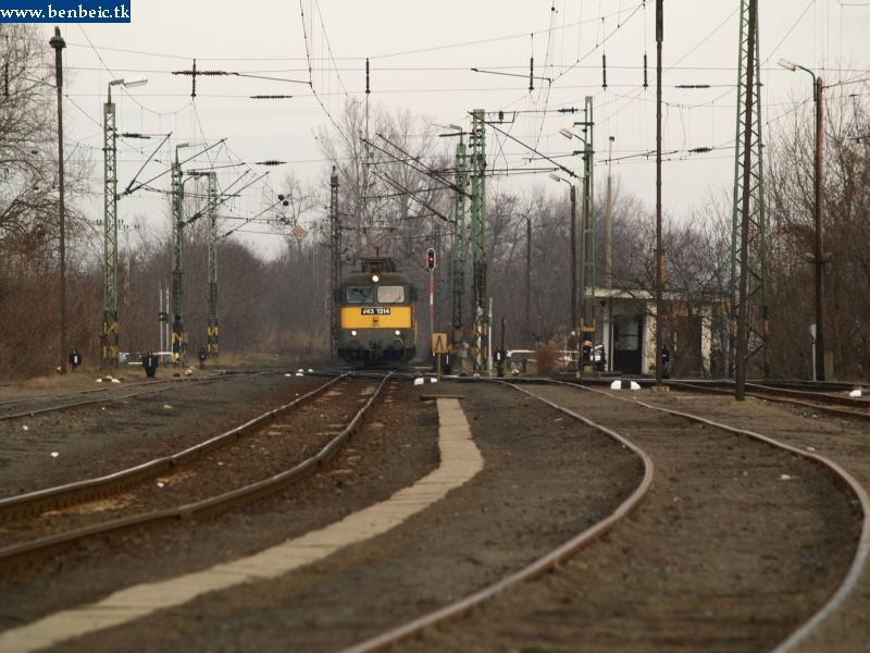 V43 1314 Oroszlány állomásra jár be fotó