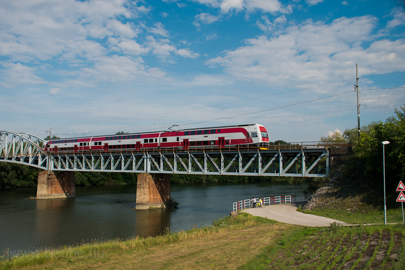 Váh river bridge at Komárom photo