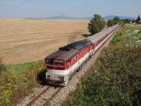 The ŽSSK 750 182-8 seen between Jelšovce and Zbehy