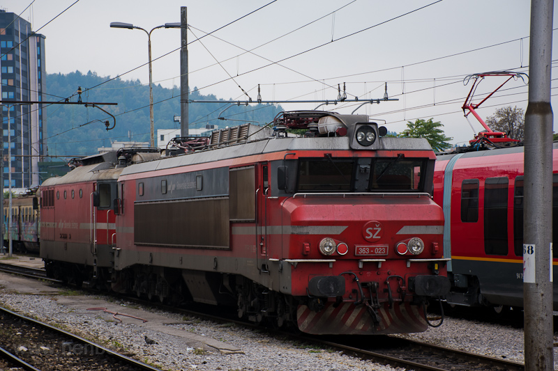 The SŽ 363 023 seen at photo