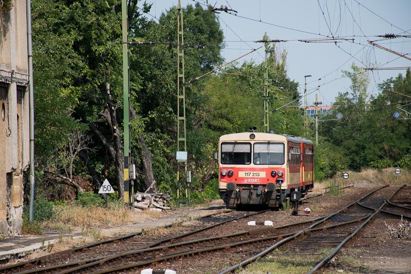The MÁV-START 117 213 seen  photo