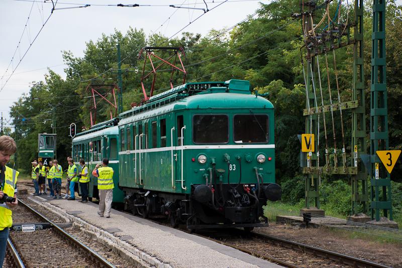 A MÁV-HÉV LVII. 83 pályaszá fotó