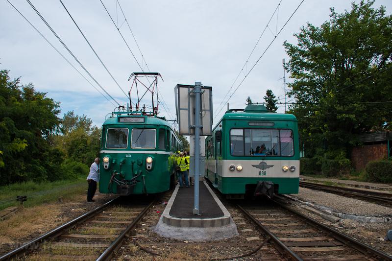 A MÁV-HÉV MVIII. 251 Dunaha fotó