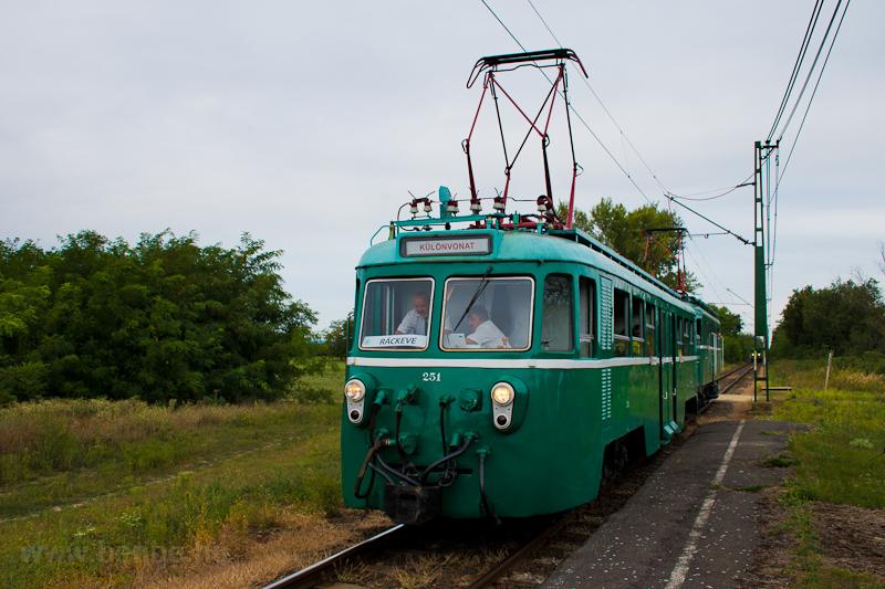 A MÁV-HÉV MVIII 251 Szigetm fotó