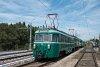 A MÁV-HÉV MVIII 251 pályaszámú nosztalgia-motorkocsi Pesterzsébet felső állomáson