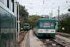 A MÁV-HÉV LVII 90 és az MX 881 Dunaharaszti külső állomáson