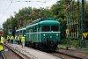 A MÁV-HÉV LVII. 83 pályaszámú <q>Tigris</q> az MVIII. motorkocsival Dunaharaszti küls&#337; állomáson