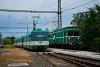 A MÁV-HÉV LVII 90 és az MX 879 Szigetcsép állomáson