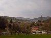 The ŽSSK 812 033-3 seen between Banská Belá and Banský Studenec on Belianksy viadukt