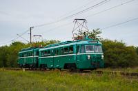 The MÁV-HÉV MVIII 251 seen between Tököl and Szigetmajor