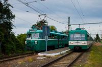 A MÁV-HÉV MVIII. 251 és MX. 881 Szigetcsép állomáson
