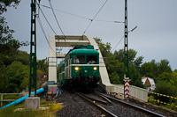A MÁV-HÉV LVII 83 Dunahíd forgalmi kitérő és Dunaharaszti külső között