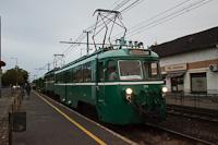 The MÁV-HÉV MVIII 251 seen at Soroksár, Hősök tere