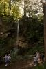Bridal photos taken at Lillafüred, next to the waterfall