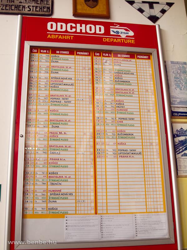 Induló vonatok jegyzéke Csorbán fotó