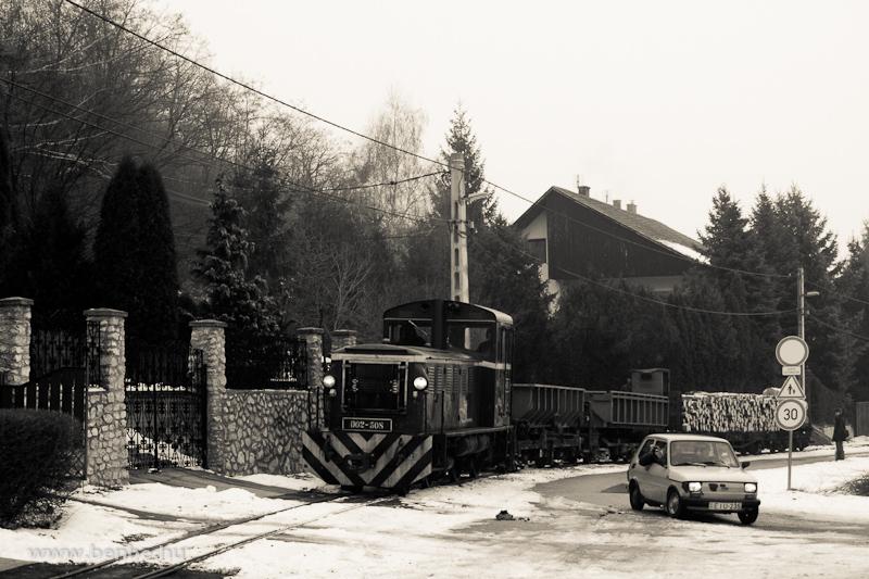A LÁEV D02-508 tehervonattal Diósgyőr belterületén fotó