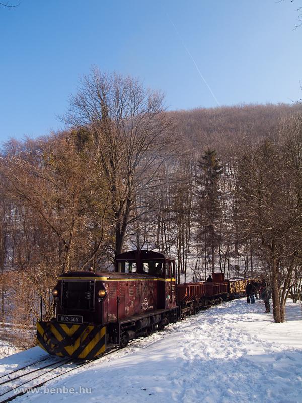 A LÁEV D02-508 egy tehervonattal Lillafüred állomáson fotó