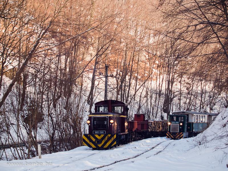 A LÁEV D02-508 tehervonata és a C02-408 Fazola-kohó állomáson fotó