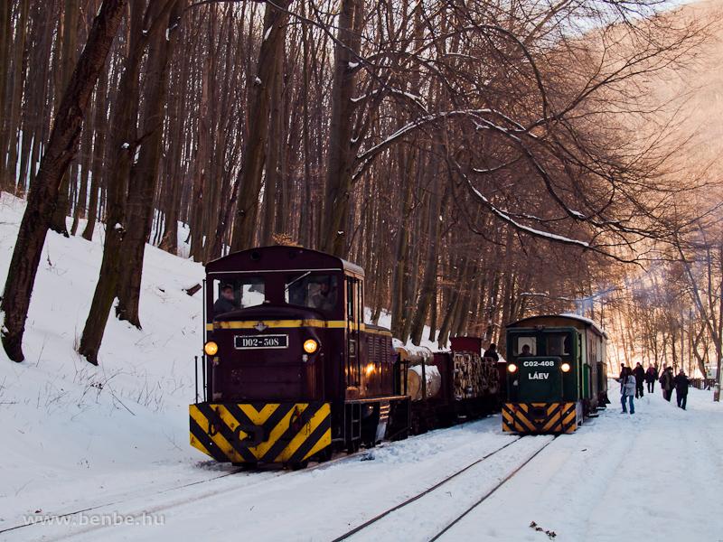 A LÁEV D02-508 és C02-408 Garadna végállomáson fotó