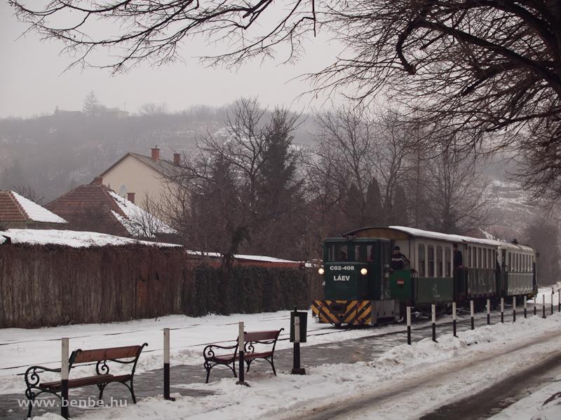 A LÁEV C02-408 pályaszámú C50-es egy hosszú személyvonattal Miskolc-Dorottya utca végállomáson fotó