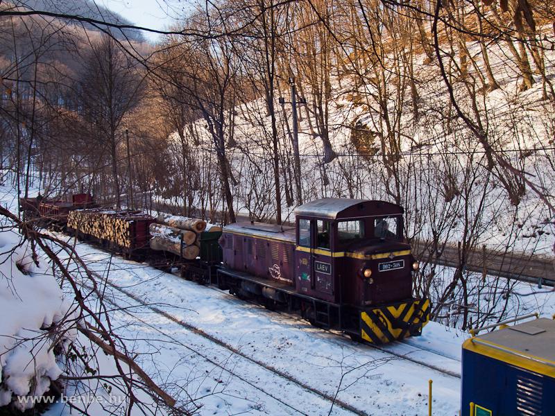 A LÁEV D02-508-as, Mk48 sorozatú dízelmozdonya tehervonattal Fazola-kohó (korábban Újmassa-őskohó) állomáson fotó