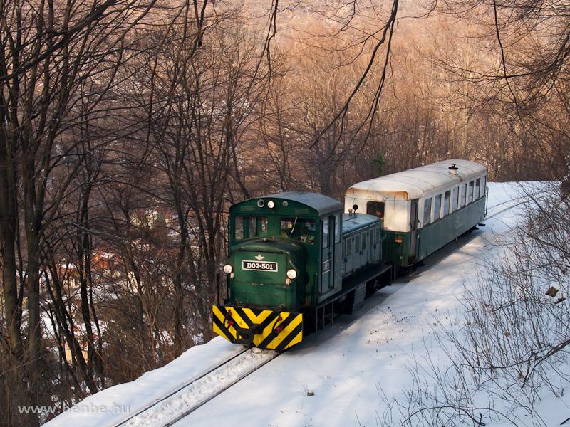 A LÁEV D02-501 menetrendszerinti személyvonattal Puskaporos és Lillafüred között fotó