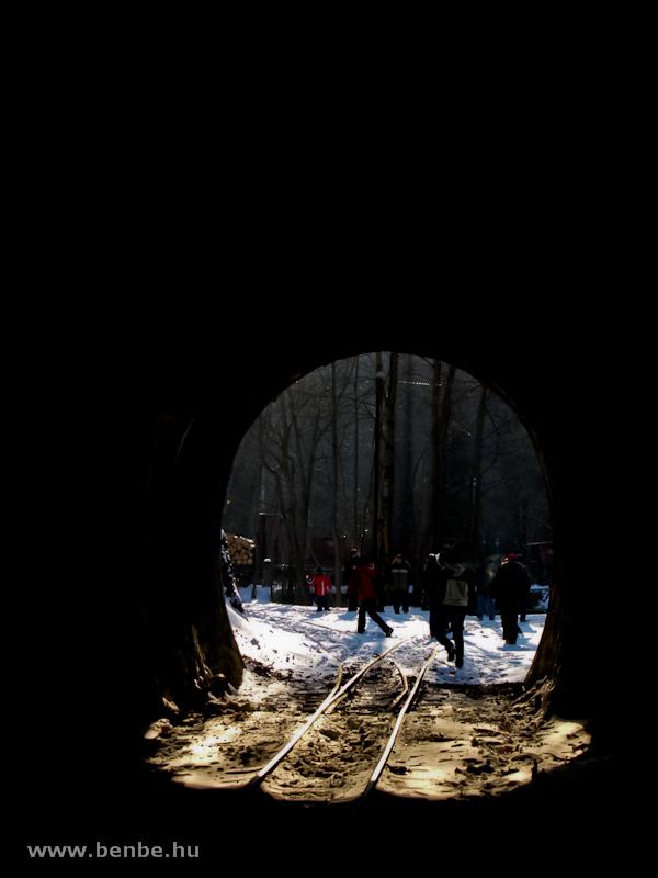 A deltavágány elágazóváltója a Lillafüredi I. alagútban fotó