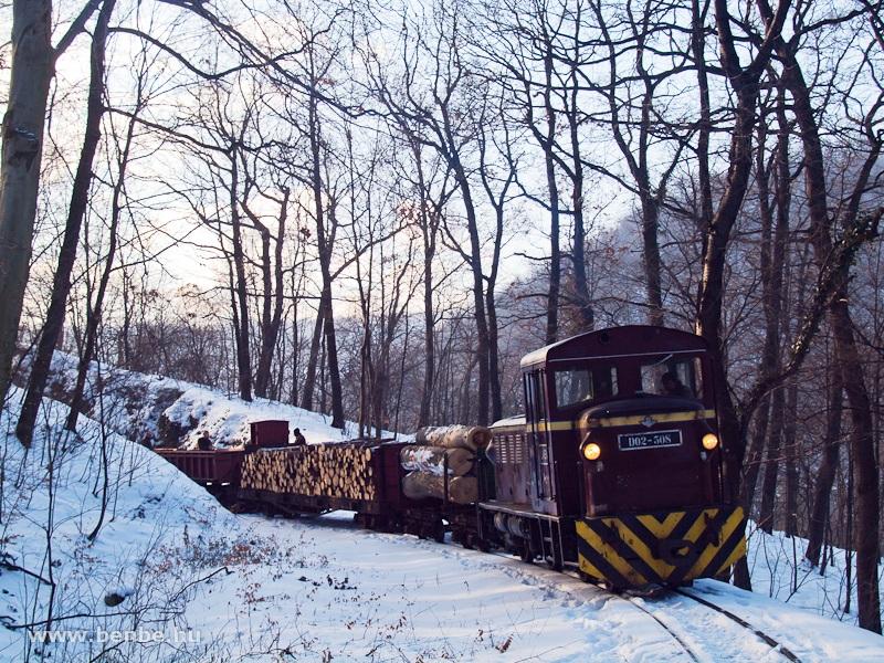 D02-508 tehervonattal Puskaporos és Papírgyár között fotó