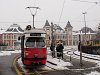 An E1 class tram that formerly ran in Vienna now on tram line 2 at Miskolc-Tisza station