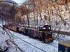 A L�EV D02-508-as, Mk48 sorozat� d�zelmozdonya tehervonattal Fazola-koh� (kor�bban �jmassa-őskoh�) �llom�son