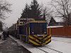The LÁEV Mk48 2021 hybrid diesel-electric locomotive at Miskolc-Dorottya u. terminus