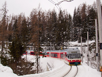 The ZSSK GTW 425 962-8 in the High Tatras near Felsőhági (Vysné Hágy, Slovakia)