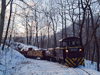 The D02-508 with a freight train between Puskaporos and Pap�rgy�r