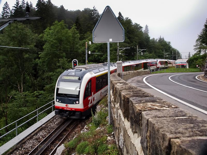 A Zentralbahn ABeh 160 003-6 Brünig-Hasliberg és Chäppeli között fotó