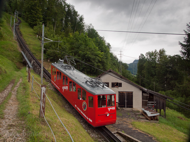 The Pilatusbahn (PB) Bhe 1/ photo