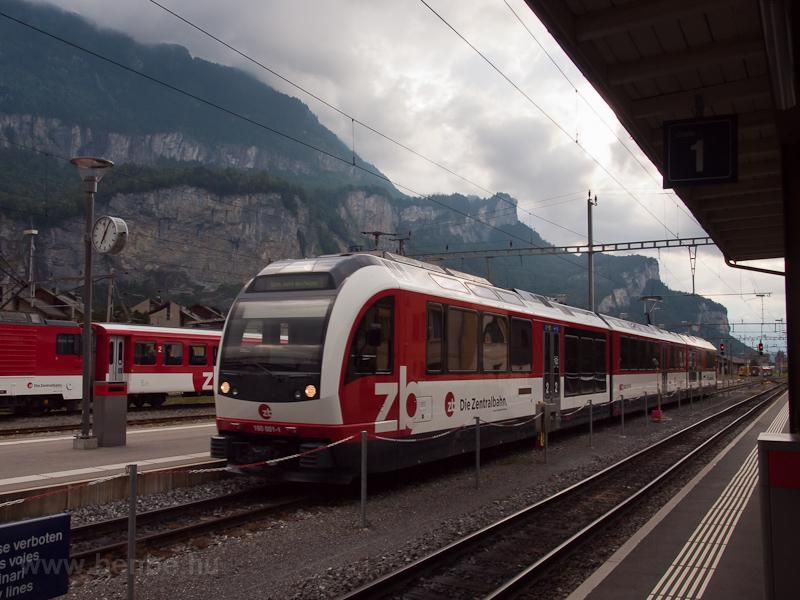 A Zentralbahn ABeh 160 001-1 Meiringen állomáson fotó