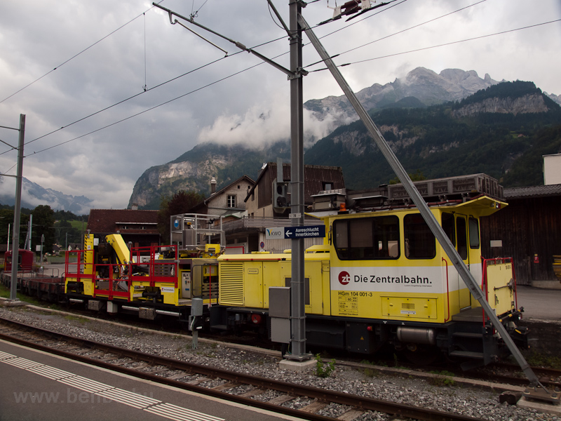 Zentralbahn track maintenan photo