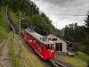 A Pilatusbahn (PB) Bhe 1/2 23 Alpnachstad és Aemsigen között