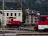 A Zentralbahn HGe 4/4<sup>II</sup> (101) 962-9 és a Te 171 203-3 pályaszámú kis villamos tolatómozdony Meiringen állomáson