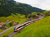 The Zentralbahn ABeh 150 104-4 seen between Kaiserstuhl OW and Lungern