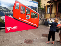 Pilatusbahn - the steepest rack railway in the world; the photographing background
